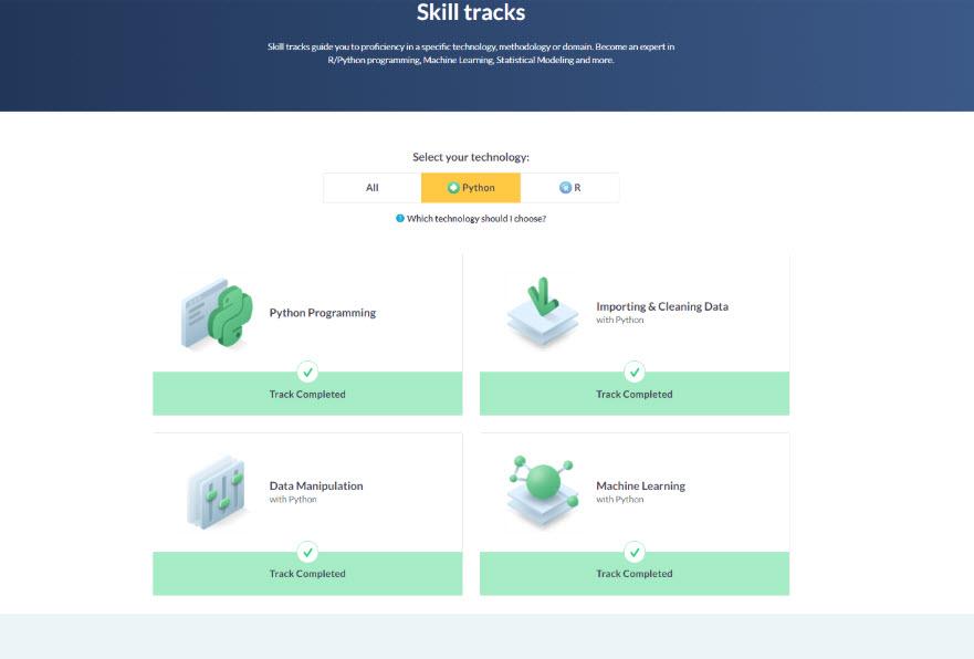 DataCamp's Skill Tracks