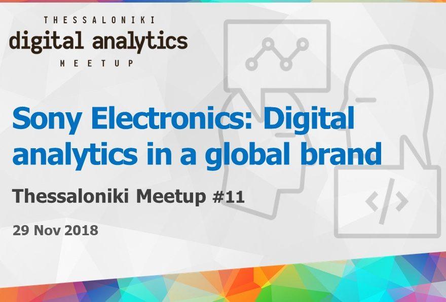 Sony: Digital analytics in a global brand - Digital analytics meetup #11